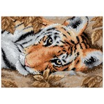"7""X5"" 18 Count - Gold Petites Beguiling Tiger Counted Cross Stitch Kit"