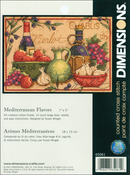 "7""X5"" 14 Count - Mediterranean Flavors Mini Counted Cross Stitch Kit"