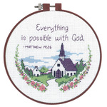 """Learn - A - Craft Everything Is Possible Counted Cross Stitch Ki-6"""" Round 14 Cou"""