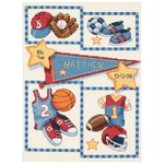 "9""X12"" 14 Count - Baby Hugs Little Sports Birth Record Counted Cross Stitch Ki"
