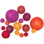 Warm Assorted 16/Pkg - Feltworks Balls