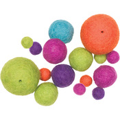 Bright Assorted 16/Pkg - Feltworks Balls