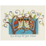 """10""""X8"""" - Owl Always Be Your Friend Punch Needle Kit"""