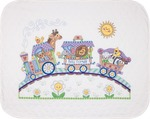 """43""""X34"""" - Baby Hugs Baby Express Quilt Stamped Cross Stitch Kit"""