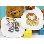 "9""X14"" Set Of 2 - Baby Hugs Baby Express Bibs Stamped Cross Stitch Kit"