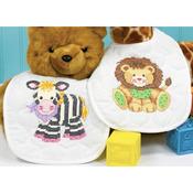 "9""X14"" Set Of 2 - Baby Hugs Baby Express Bibs Stamped Cross Stitch Kit"