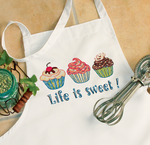 Life Is Sweet Apron Stamped Cross Stitch-