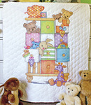 "34""X43"" - Baby Hugs Baby Drawers Quilt Stamped Cross Stitch Kit"