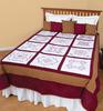 """Vintage Revival Quilt - Stamped White Sampler Quilt Blocks 18""""X18"""" 12/Pkg"""
