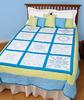 "Classic Cross-Stitch Quilt - Stamped White Sampler Quilt Blocks 18""X18"" 12/Pkg"