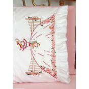 """Fence Lady - Stamped Lace Edge Pillowcase 30""""X20"""" 2/Pkg"""