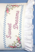 "Sweet Dreams - Stamped Lace Edge Pillowcase 30""X20"" 2/Pkg"