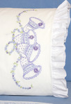 "Wedding Bells - Stamped Lace Edge Pillowcase 30""X20"" 2/Pkg"