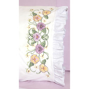 "Pansy - Stamped Lace Edge Pillowcase 30""X20"" 2/Pkg"
