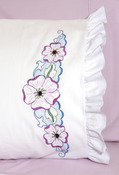 "Large Flower - Stamped Lace Edge Pillowcase 30""X20"" 2/Pkg"