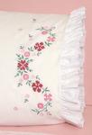 "Cross Stitch Flower - Stamped Lace Edge Pillowcase 30""X20"" 2/Pkg"
