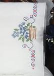 "Flowers In Basket - Stamped Perle Edge Pillowcase 30""X20"" 2/Pkg"
