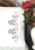 "Floral - Stamped Perle Edge Pillowcase 30""X20"" 2/Pkg"