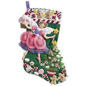 "18"" Long - Sugar Plum Fairy Stocking Felt Applique Kit"