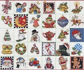 "2""X2"" 14 Count Set Of 30 - Mary Engelbreit Ornaments Counted Cross Stitch Kit"