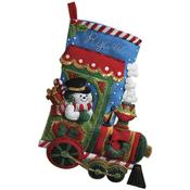 "18"" Long - Candy Express Stocking Felt Applique Kit"
