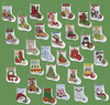 """More Tiny Stockings Ornaments Counted Cross Stitch Kit-2-1/2""""X3"""" 14 Count Set Of"""