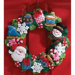 """16"""" Round - Christmas Toys Wreath Felt Applique Kit"""