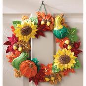 Harvest Time Wreath Felt Applique Kit