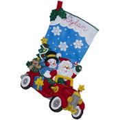 "18"" Long - Holiday Drive Stocking Felt Applique Kit"