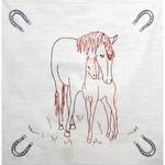 """Horse & Colt - Stamped Quilt Blocks 18""""X18"""" 6/Pkg"""