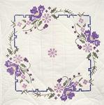 "Iris On Square Border - Stamped Quilt Blocks 18""X18"" 6/Pkg"
