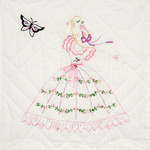 """Butterfly Lady - Stamped Quilt Blocks 18""""X18"""" 6/Pkg"""
