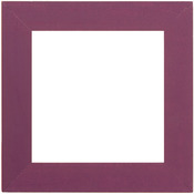 "Matte Purple - Wooden Frame 6""X6"""