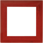 "Holiday Red - Wooden Frame 6""X6"""