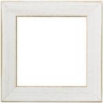 "Antique White - Wooden Frame 6""X6"""