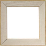 "Taupe - Wooden Frame 6""X6"""