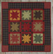 Homespun Stars Wall Quilt Kit