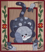 Spotty Cat Wall Quilt Kit