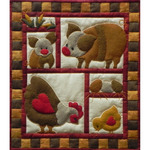 Ham & Eggs Wall Quilt Kit