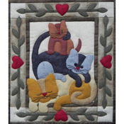 Cat Stack Wall Quilt Kit
