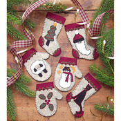 Christmas Woolens Ornament Kit 6/Pkg-