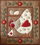 Spotty Hen Wall Quilt Kit