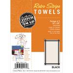 """White W/Black Stripe - Vintage Stripe Towel 18""""X28"""" 3/Pkg"""