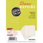 Natural - Stitch 'em Up Dinner Napkins For Embroidery 4/Pkg