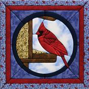 """Cardinal Quilt Magic Kit - 12""""X12"""""""