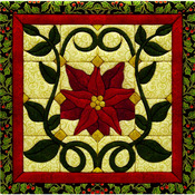 "12""X12"" - Christmas Poinsettia Quilt Magic Kit"