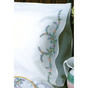 """Reflections - Stamped Pillowcase Pair 20""""X30"""" For Embroidery"""