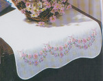Petit Fleur - Stamped Dresser Scarf For Embroidery