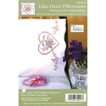 "Lilac Heart - Stamped Pillowcase Pair 20""X30"" For Embroidery"