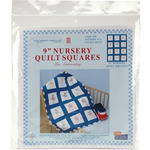 "Little Boys - Stamped White Nursery Quilt Blocks 9""X9"" 12/Pkg"